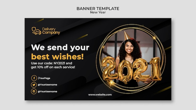 New year banner template