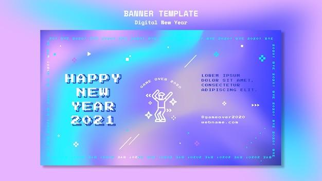 새 해 개념 배너 서식 파일