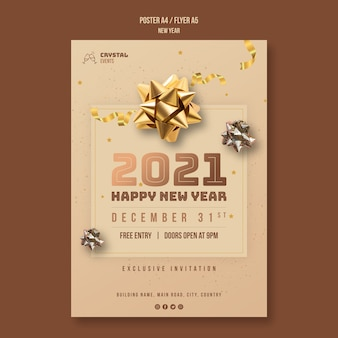 New year concept flyer template