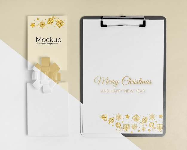 New year concept mock-up
