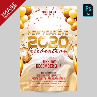 New year eve flyer 2020