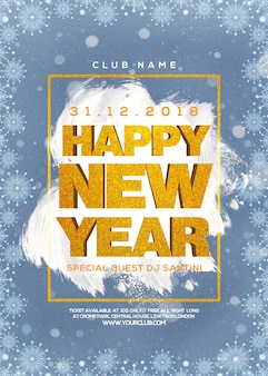 New year party poster ready to print