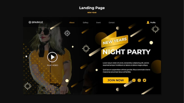 New year sale landing page template