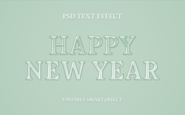 New year text effect