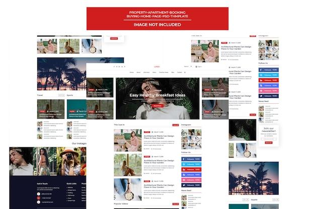 Новости и журнал шаблон blogger портфолио