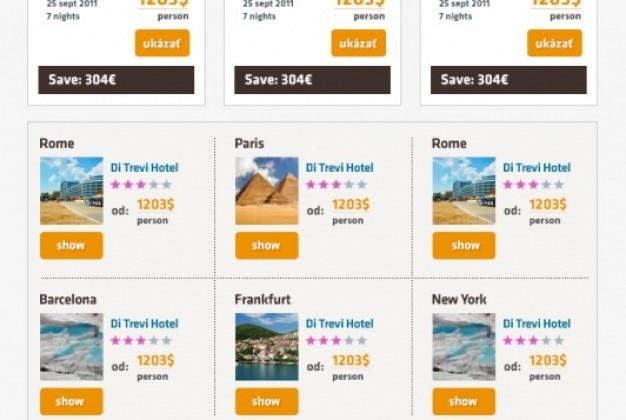 Newsletter design for travel agency