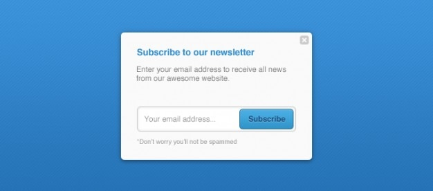 Newsletter newsletters pop up subscribe