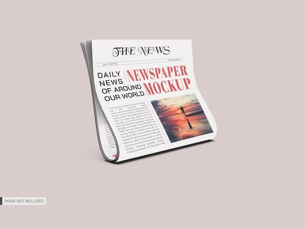 新聞のモックアップ