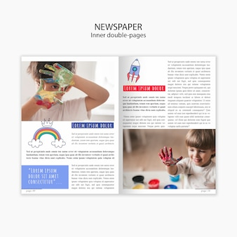 Newspaper template about childrens childhood