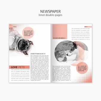 Modello di giornale sull'amore per gli animali domestici