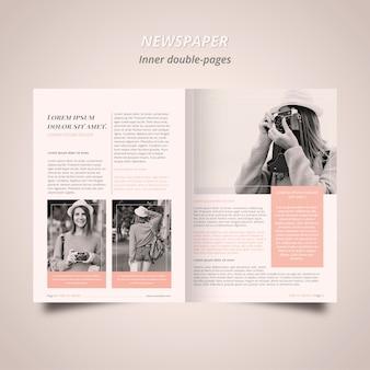 Modello di giornale con fotografo