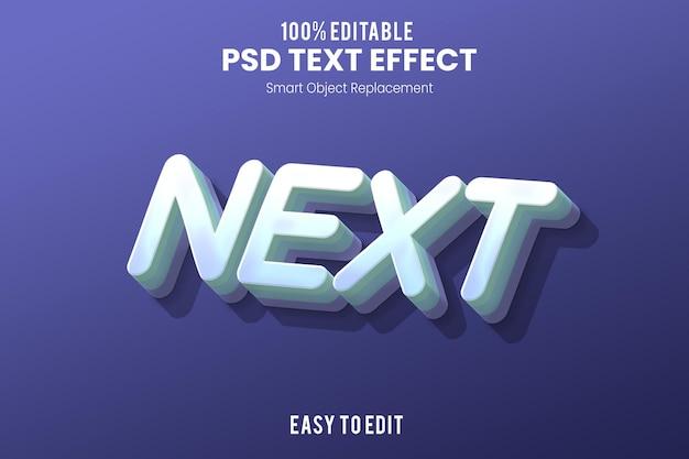 Текстовый эффект next3d