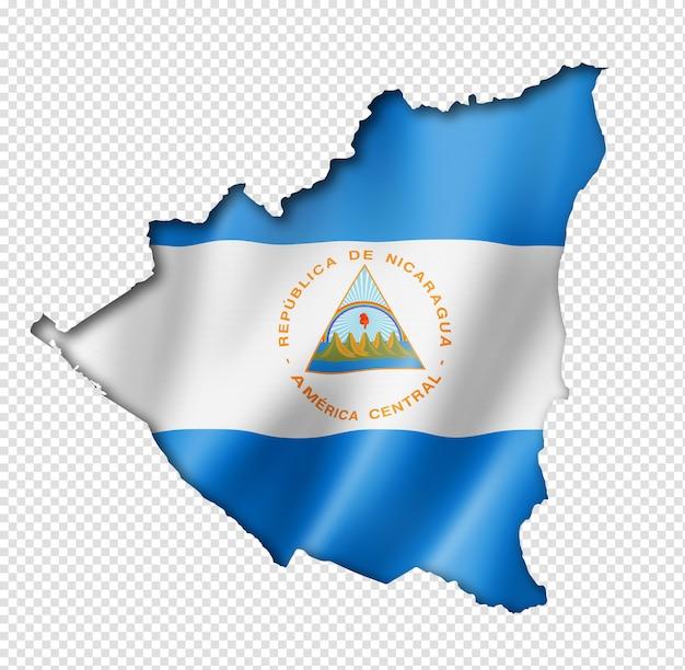 ニカラグアの旗の地図