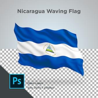 ニカラグアフラグウェーブデザイントランスペアレント