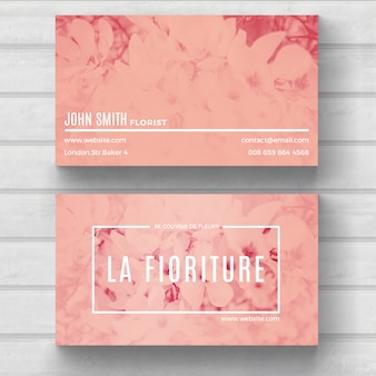 Красивая цветочная визитная карточка
