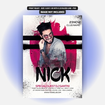 Nick party flyer