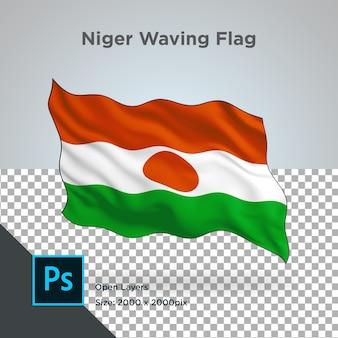透明なニジェールの旗の波のデザイン