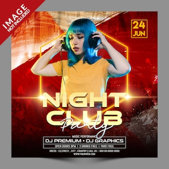 Night club party social media promotion