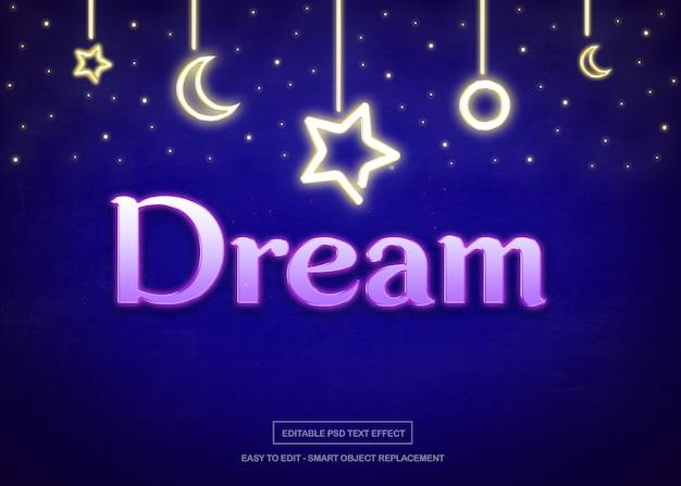 Night dream text effect