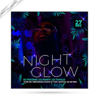 Night glow flyer party