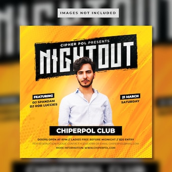 Night out banner template