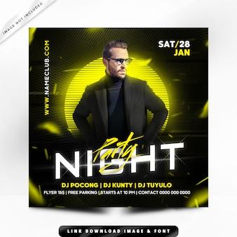Night party flyer premium