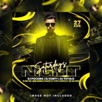 Night saturdays flyer party