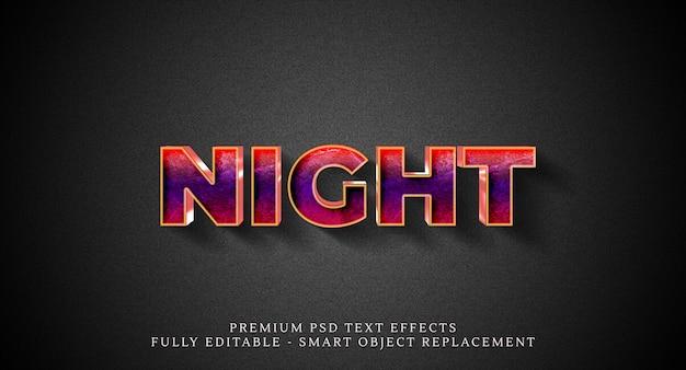 夜のテキストスタイル効果、テキスト効果