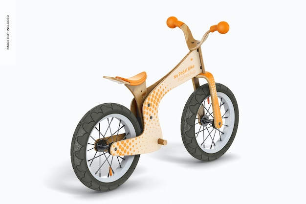 No pedal bike mockup, right view