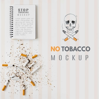 No tobacco mock-up design