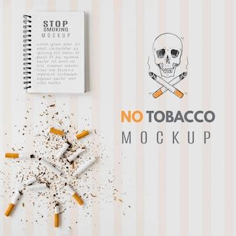 Nessun design mock-up del tabacco