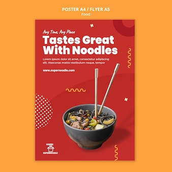 Noodles promo print template