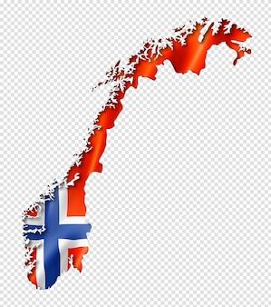 노르웨이 국기지도