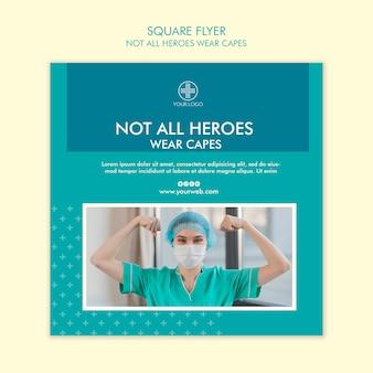 すべてのヒーローがケープチラシを着用するわけではありません