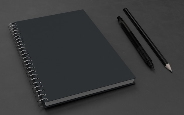 Note book wthis pen mockup