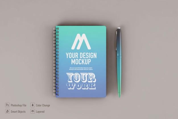Макет ноутбука, изолированные на мягком цветном фоне