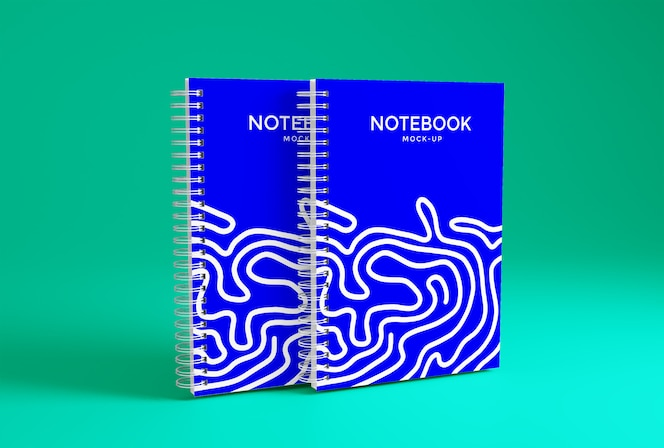 Notebook mockup template premium psd