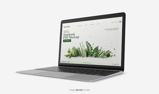 노트북 목업