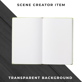 Notebook object transparent psd