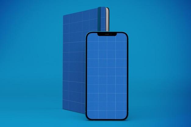 ノートブックとスマートフォンのモックアップ