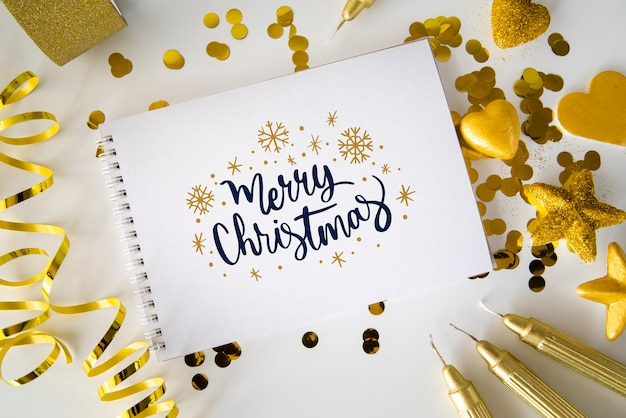 Notebook with message for christmas