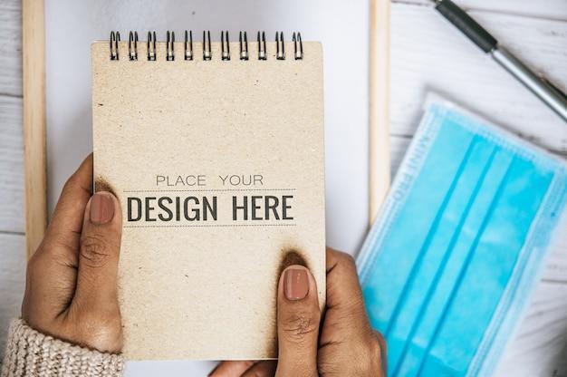 Notebook con spazio di lavoro