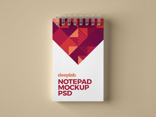 Notepad branding mockup