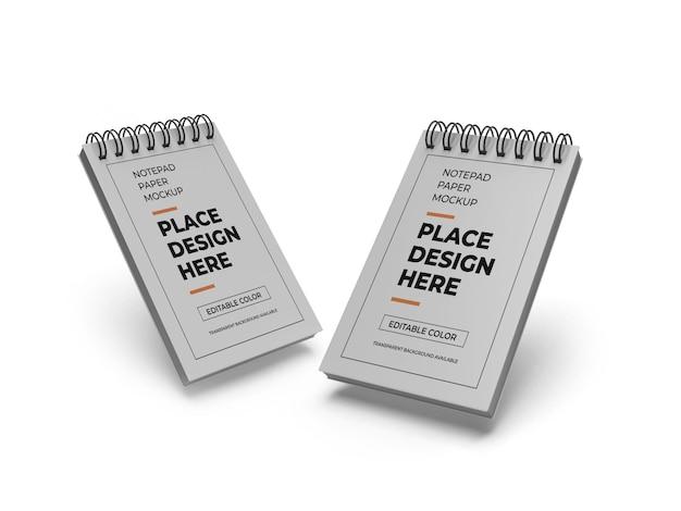 메모장 종이 모형 프리미엄 PSD 파일