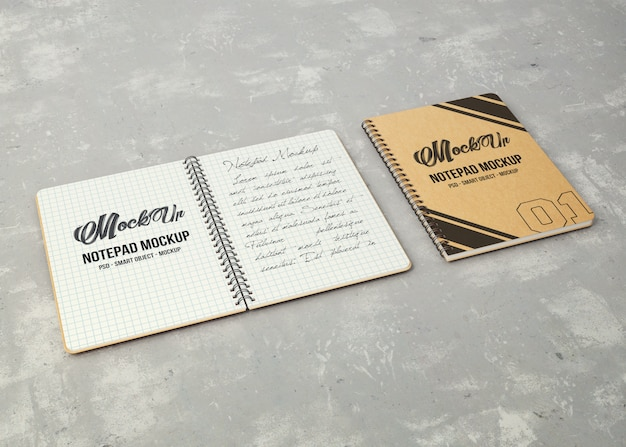 Notepads mockup