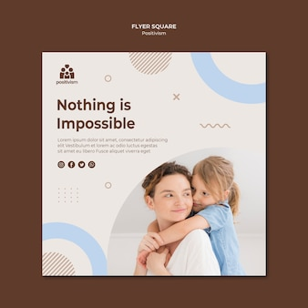Nothing is impossible flyer template