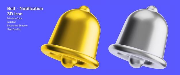 通知リマインダーベル3dデザインアセットモックアップ