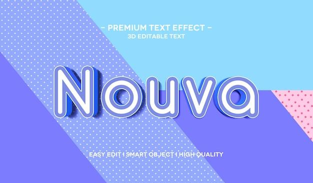 Шаблон эффекта стиля 3d-текста nouva