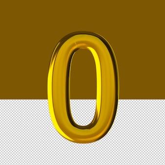 숫자 0 텍스트 효과 오일