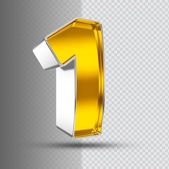 Number 1 3d golden luxury